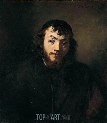 Bust of a Young Jew,  | Rembrandt | Painting Reproduction