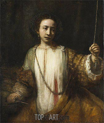 Lucretia, 1666 | Rembrandt | Painting Reproduction