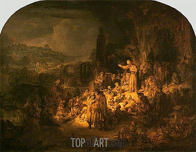 Rembrandt | Preaching of St John the Baptist, c.1634