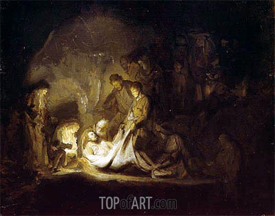 The Entombment, c.1630 | Rembrandt | Gemälde Reproduktion