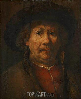 Self Portrait, c.1655/57 | Rembrandt | Painting Reproduction