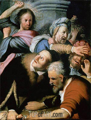 Christ Driving the Moneychangers from the Temple, 1626 | Rembrandt | Painting Reproduction