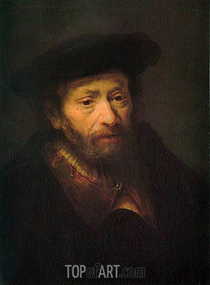 Portrait of Old Man, c.1643 | Rembrandt | Painting Reproduction
