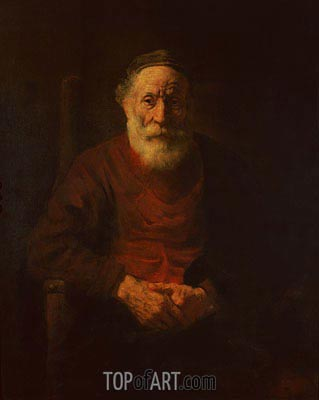 An Old Man in Red, c.1652/54 | Rembrandt| Painting Reproduction