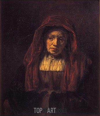 Portrait of an Old Woman, 1654 | Rembrandt| Painting Reproduction