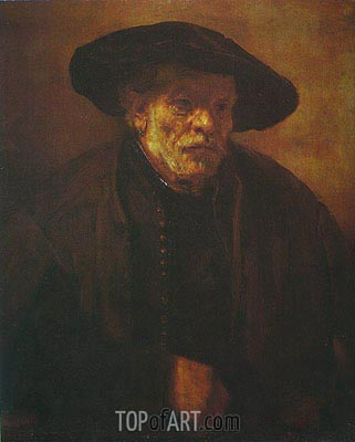 Portrait of Rembrandt's Brother Andrien van Rijn, 1654 | Rembrandt | Gemälde Reproduktion