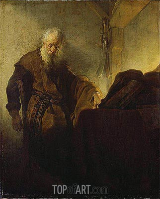 St Paul at his Writing-Desk, c.1629/30 | Rembrandt | Painting Reproduction