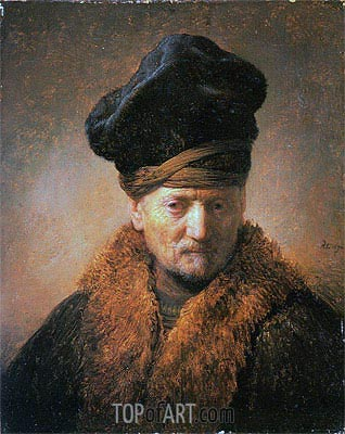 Old Man in Fur Coat, 1630 | Rembrandt| Painting Reproduction