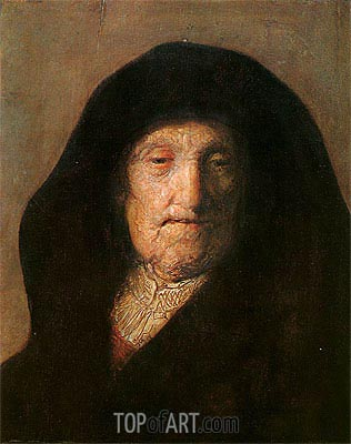 Portrait of Mother of Rembrandt, c.1630 | Rembrandt | Painting Reproduction