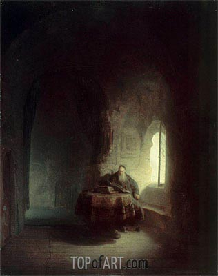 Philosopher Reading, 1631 | Rembrandt | Painting Reproduction