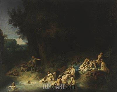 Rembrandt | Diana with Actaeon and Callisto, 1634