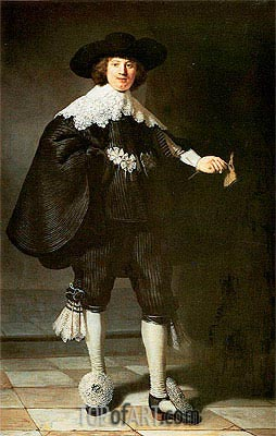 Portrait of Marten Soolmans, 1634 | Rembrandt | Painting Reproduction