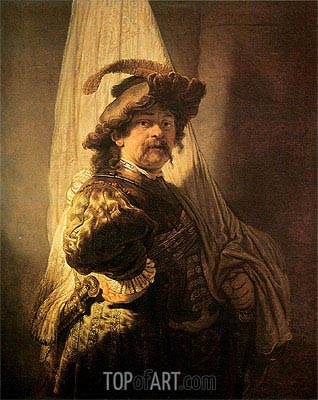 Standard Bearer, 1636 | Rembrandt | Painting Reproduction