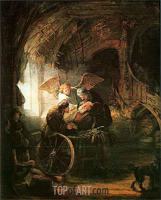 Tobias Cured With His Son, 1636 | Rembrandt| Painting Reproduction