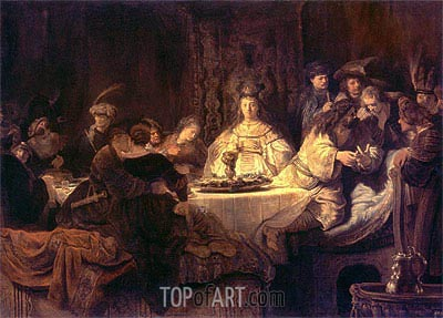 Rembrandt | Samson Posing a Riddle at the Wedding Feast, 1638