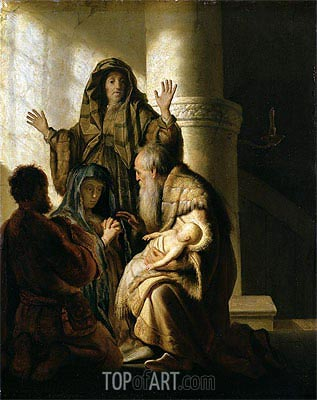 Rembrandt | Simeon in the Temple, c.1628