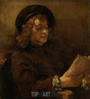 Titus Reading, c.1656/57 | Rembrandt | Painting Reproduction
