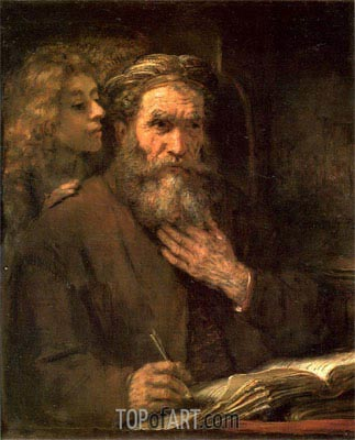 Evangelist Matthew, 1661 | Rembrandt | Painting Reproduction