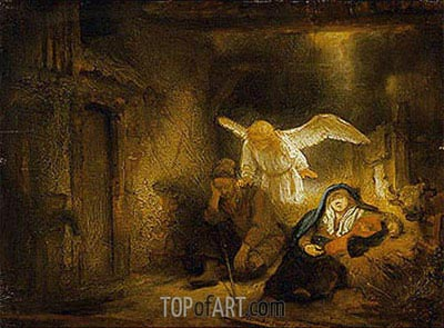 The Dream of St Joseph, 1645 | Rembrandt| Painting Reproduction