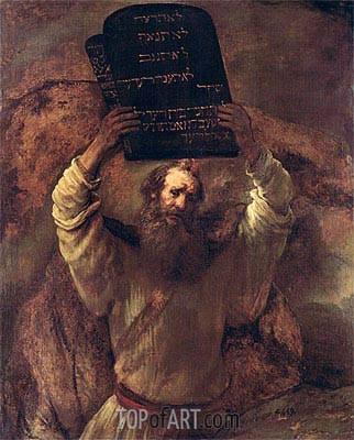 Moses Smashing the Tablets of the Law, 1659 | Rembrandt| Gemälde Reproduktion