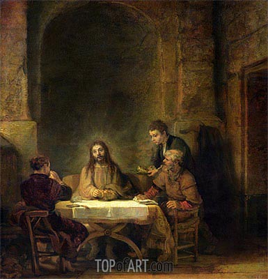 The Supper at Emmaus, 1648 | Rembrandt| Painting Reproduction