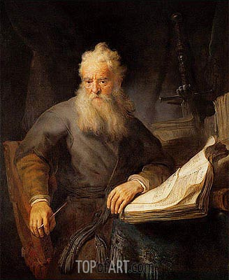 Apostle Paul, c.1633 | Rembrandt| Painting Reproduction