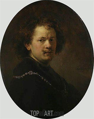 Self Portrait, 1633 | Rembrandt | Painting Reproduction
