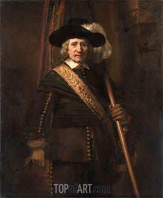 Rembrandt | The Standard Bearer (Floris Soop), 1654