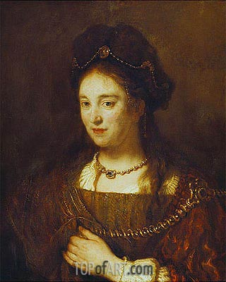 Saskia, 1643 | Rembrandt | Painting Reproduction