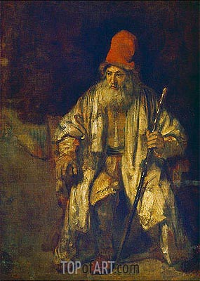 The Old Man with the Red Cap, undated | Rembrandt | Painting Reproduction
