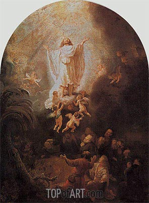 The Ascension of Christ, 1636 | Rembrandt | Painting Reproduction