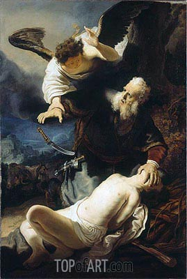 The Sacrifice of Isaac, 1636 | Rembrandt| Painting Reproduction