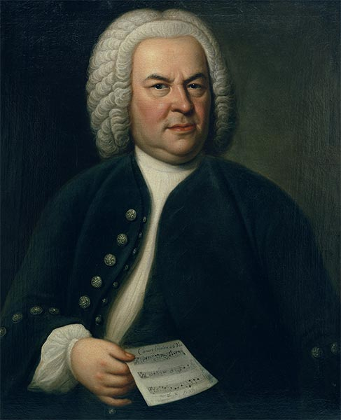 Portrait of Johann Sebastian Bach, c.1746/48 | Elias Gottlob Haussmann | Painting Reproduction