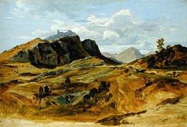 Landscape at Civitella, 1822 von Heinrich Reinhold | Gemälde-Reproduktion