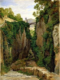 Rocky Ravine at Sorrento, 1823 by Heinrich Reinhold | Painting Reproduction