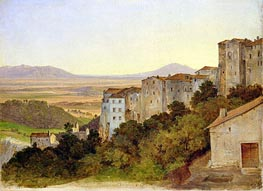 View of Olevano, c.1821/24 by Heinrich Reinhold | Painting Reproduction