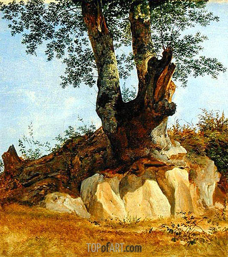 A Tree in Campagna, c.1822/23 | Heinrich Reinhold | Painting Reproduction