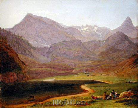 The Funtensee, 1841 | Heinrich Reinhold | Painting Reproduction