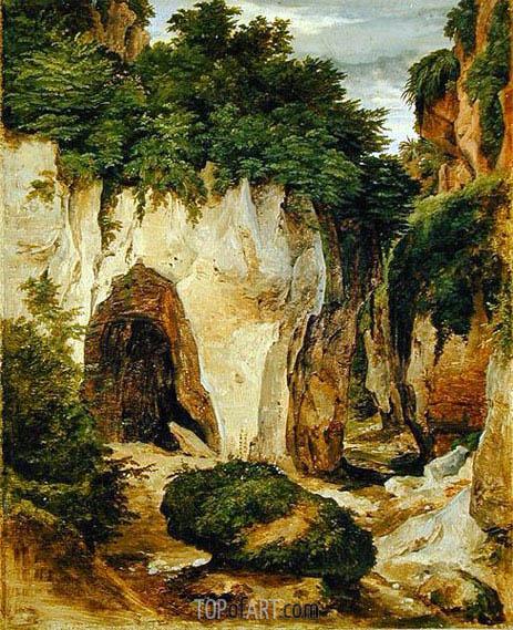 Heinrich Reinhold | Rocks at Sorrento, 1823