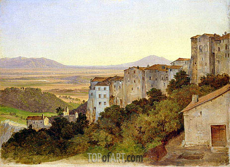 Heinrich Reinhold | View of Olevano, c.1821/24