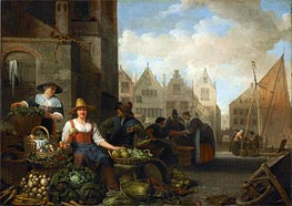The Vegetable Market, 1662 by Hendrik Martensz Sorgh | Painting Reproduction