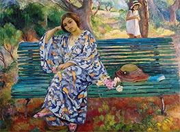 Auf der grünen Bank, Sanary, 1911 von Henri Lebasque | Gemälde-Reproduktion
