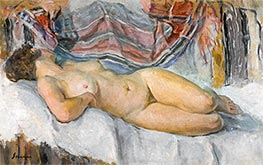 Nude Lying, undated by Henri Lebasque | Painting Reproduction