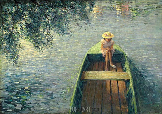 Ein Boot auf der Marne, c.1905/06 | Henri Lebasque | Gemälde Reproduktion