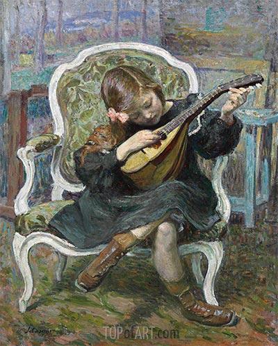Der kleine Mandolinist, 1905 | Henri Lebasque | Gemälde Reproduktion