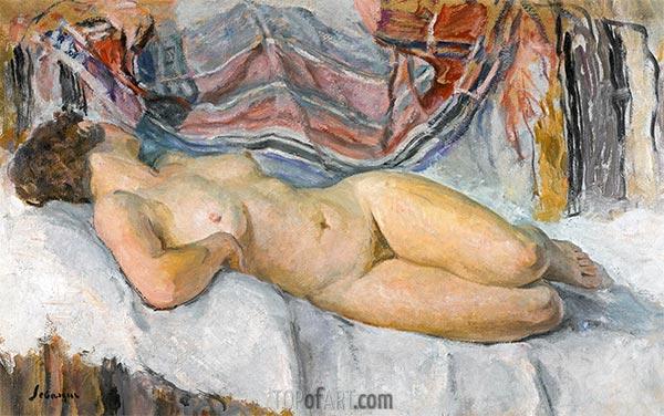 Nacktes Lügen, undated | Henri Lebasque | Gemälde Reproduktion