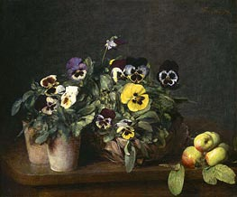 Still Life with Pansies | Fantin-Latour | Painting Reproduction
