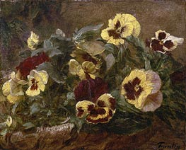 Pansies, 1903 by Fantin-Latour | Painting Reproduction