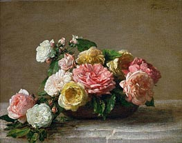 Roses in a Bowl | Fantin-Latour | outdated