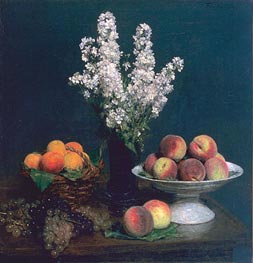 White Rockets and Fruit, 1869 by Fantin-Latour | Painting Reproduction